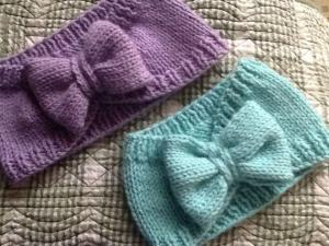 Knitted Headband Bow