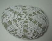 Heart Motif Crochet Art Stone