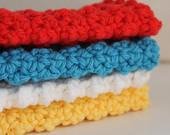Set of 4 Nubby Crochet Cloths