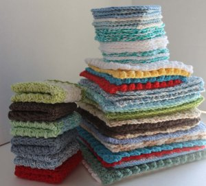 stack of dishcloths