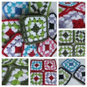 granny square collage