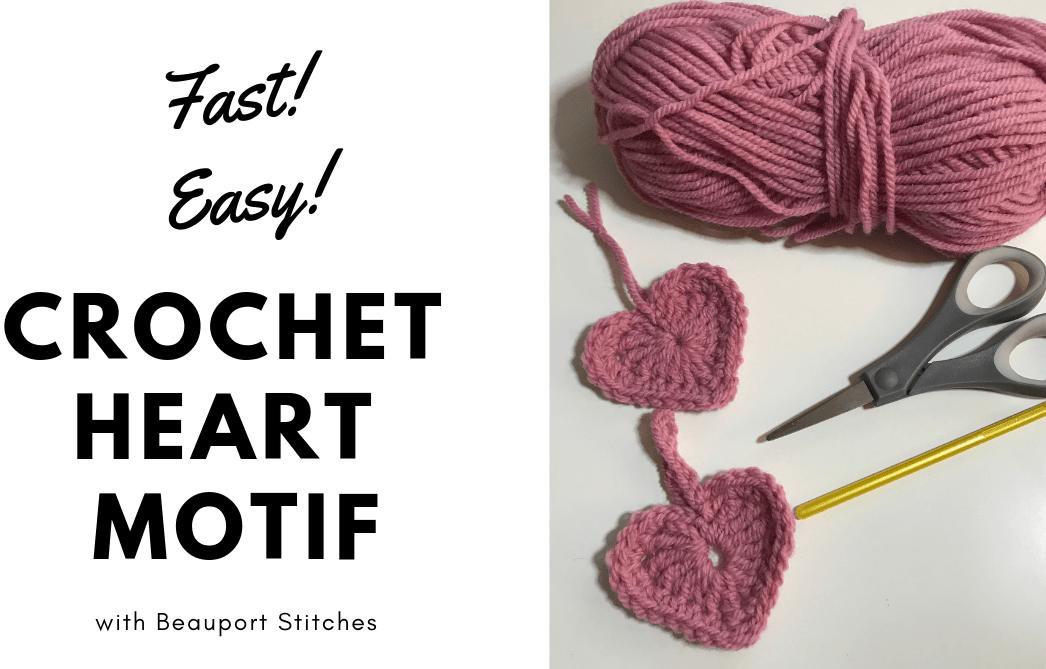 Fast And Easy Crochet Heart Motif How To Beauport Stitches